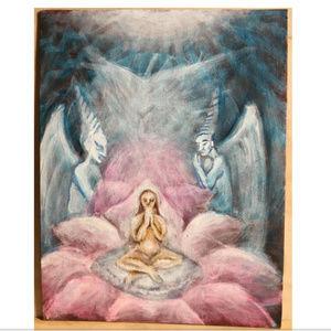 Meditating on a Lotus Visionary Painting